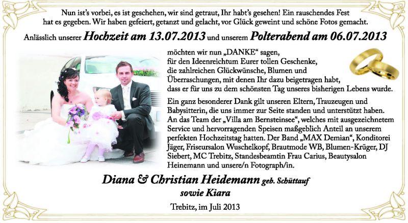 Brautpaare der region bitterfeld dessau k then wittenberg for Christian heidemann